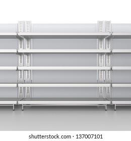 Empty shelves. 3d image