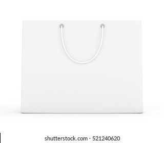 Empty Shopping Bag for advertising and branding. 3d rendering