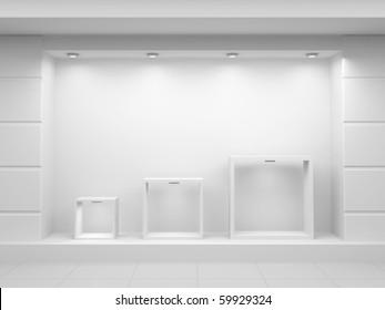 Empty show-window of shop