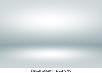 Empty space room of White stage with spot lighting in gray background.