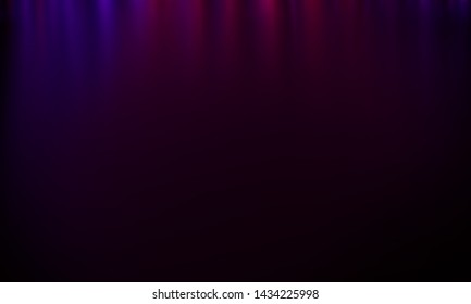 Empty stage background in purple color, spotlights, neon rays. Abstract background of neon lines and rays. Abstract background with lines and glow. Empty stage the reflection of neon lights