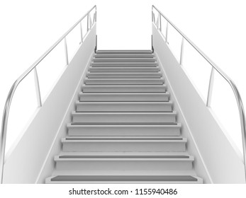 empty up stairs 3d high quality illustration
