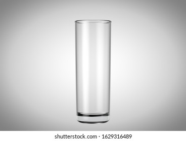 An empty stange shaped beer glass an isolated white studio background - 3D renders