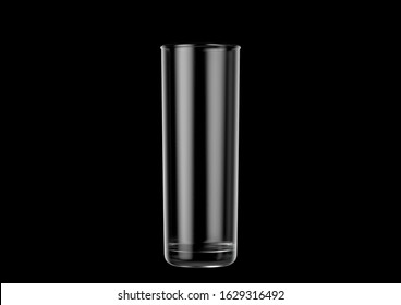 An empty stange shaped beer glass an isolated dark background - 3D renders
