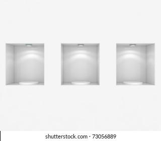 Empty Store Showcase - 3d illustration