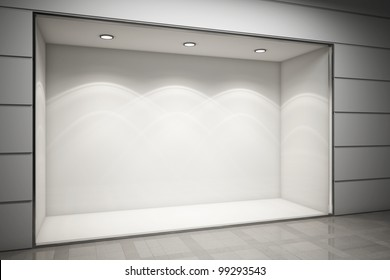 An empty storefront of shop