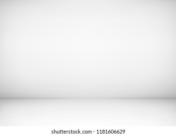Empty studio room interior. White wall and floor background. Clean workshop for photography or presentation. illustration