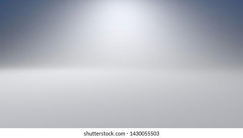 Empty Studio White Background. 3D Rendering.