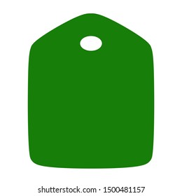 Empty tag for gift tag print green color