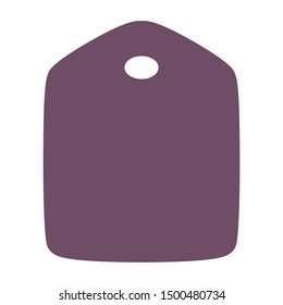 Empty tag for gift tag print purple color