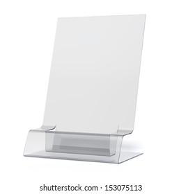 empty transparent holder for leaflets