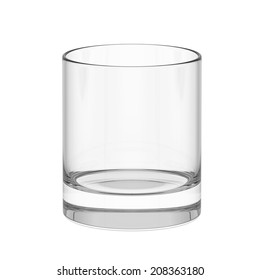 Empty whiskey glass. isolated on a white background