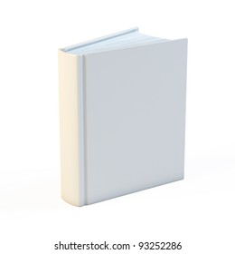 Empty white books isolated on the white background