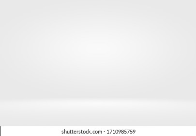 Empty white and grey studio backdrop background