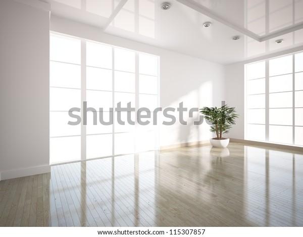leeres weißes Inneres