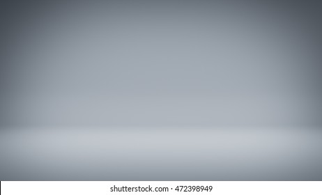Empty white room. Abstract 3D render illustration