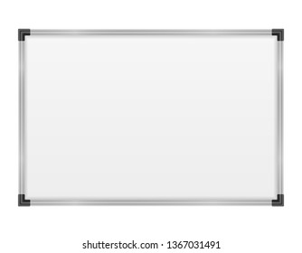 empty whiteboard magnetic marker for presentations training and education stock illustration isolated on white background