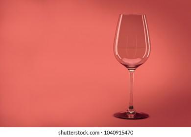 Empty wine glass 3d render