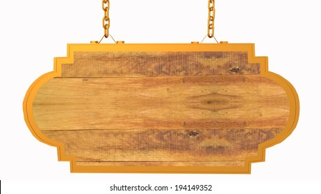 empty wood sign - background - isolated