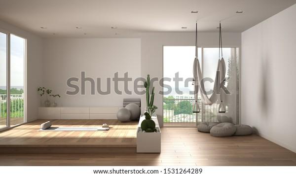 Empty Yoga Studio Interior Design Open Stock Illustration 1531264289