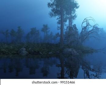 Enchanted Moonlit Forest