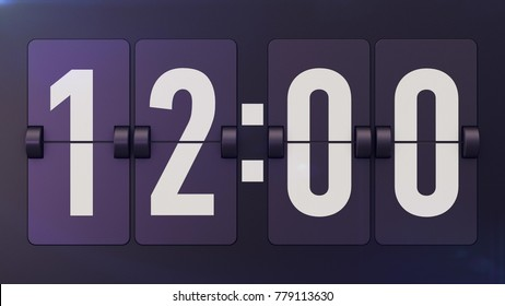 An encouraging 3d illustration of a retro flipclock fixed to the black plastic surface located diagonally. The flipclock shows 12:00. It tells us that though it is not in fashion, it is still working!