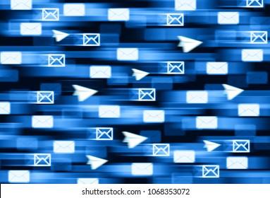 Encrypted telegram messanging delivery illustration background hd