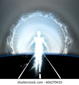 End of Tunnel, concept of Illumination, Life after death