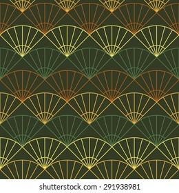 Endless fan background. Based on Traditional Japanese Embroidery. Abstract Seamless repetition. Based on Sashiko stitching - uchiwa.