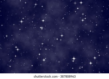 Endless repeating texture starry sky