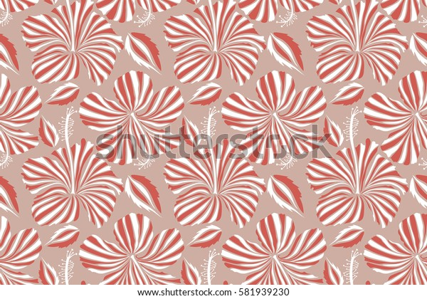 Endless texture for romantic design, decoration, greeting cards, posters, invitations, advertisement, for textile print and fabric. Floral with bright summer flowers in pink and white colors.