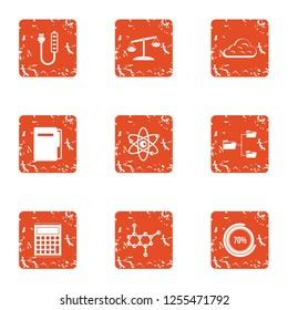 Endorphin icons set. Grunge set of 9 endorphin icons for web isolated on white background