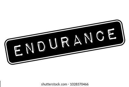 Endurance stamp. Typographic label, stamp or logo