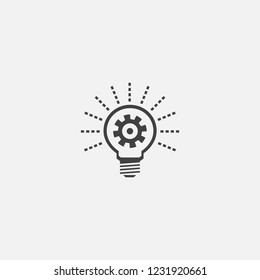 Energy efficiency base icon. Simple sign illustration. Energy efficiency symbol design from Green Energy series. Can be used for web, print and mobile