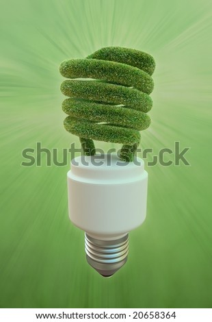 Energy Efficient Fluorescent Light Bulb Stock Illustration 20658364 ...