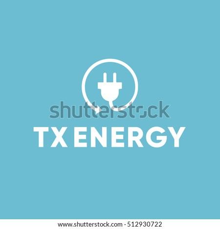 Energy Power Electric Electrician Plug Logo Stock Illustration