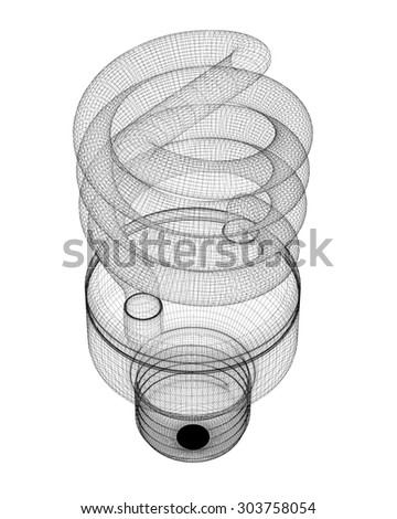 En Wire Structure | Energy Saving Lamp Body Structure Wire Stockillustration 303758054