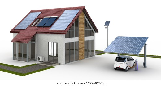 Energy supply at a single family house