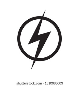 Energy symbol ,Power icon in simple flat design on white background,vector illustration.