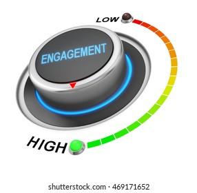 Engagement button position 3d rendering