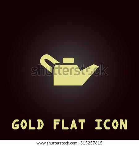 Engine Oil Gold Flat Icon Symbol Stock Illustration 315257615