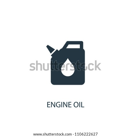 Engine Oil Icon Simple Element Illustration Stock Illustration