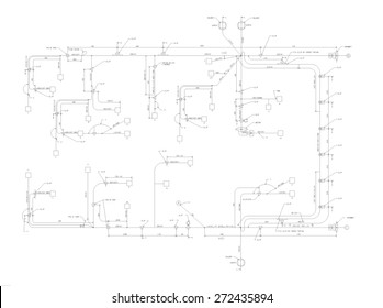 Engineering drawing for Harness wiring