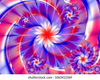 England color fractal floral