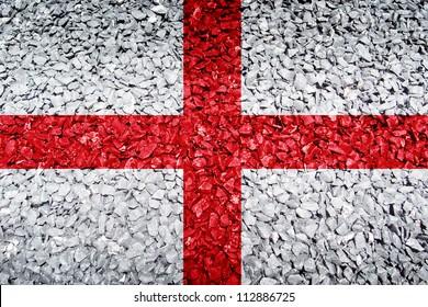 England flag on texture