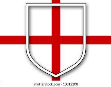 An England Flag with shield, St Georges Day.