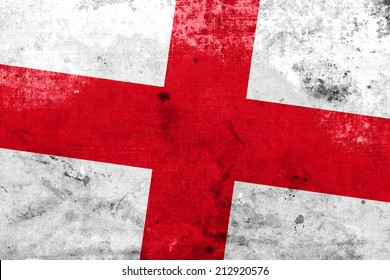 England Flag with a vintage and old look