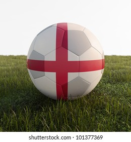 england soccer ball isolated on grass