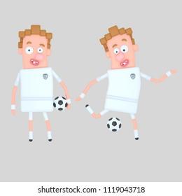 England soccer player. 3d illustration