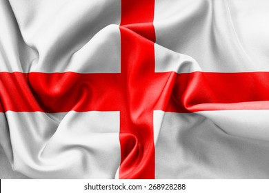 England St Georges Cross flag texture crumpled up with light and shadows